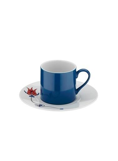 Kütahya Porselen Çintemani 9731 Desen Kahve Fincan Takımı Renkli